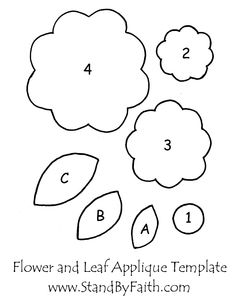 Free template for flowers clip royalty free download felt flower template | templates, printables etc. | Pinterest ... clip royalty free download