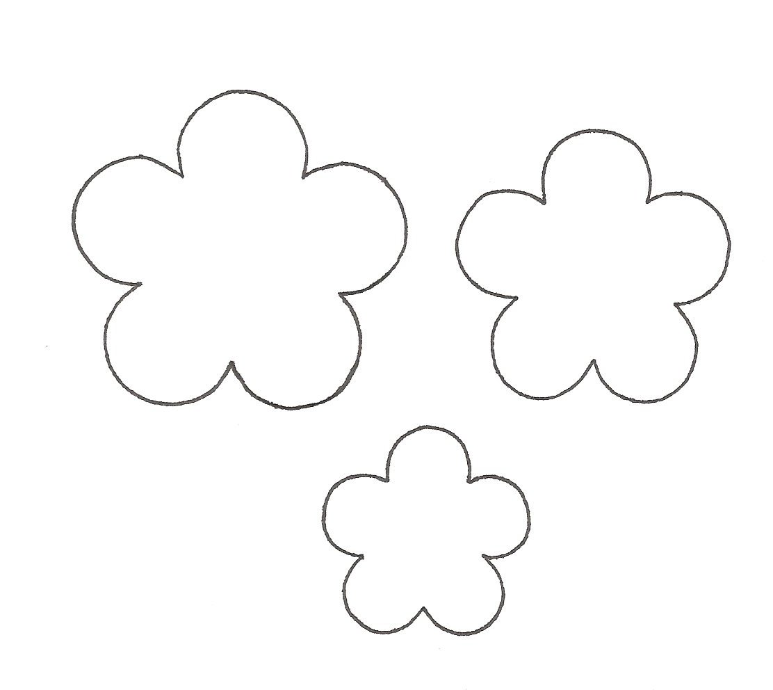 Free template for flowers free download Template flower pattern - ClipartFest free download