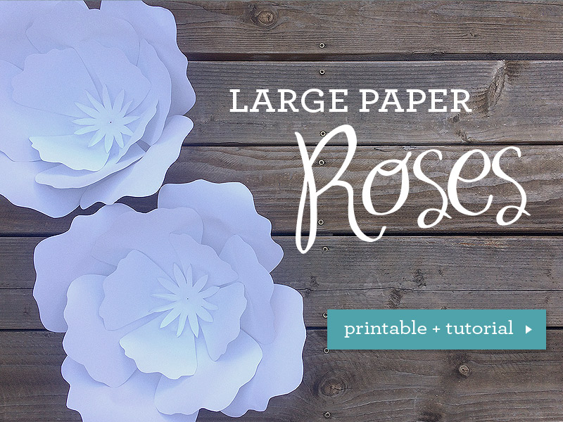 Free template for flowers svg library stock How to make giant paper roses plus a free petal template svg library stock