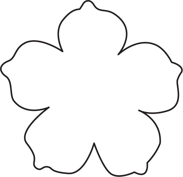 Free template for flowers vector freeuse 17 Best ideas about Flower Template on Pinterest | Felt flowers ... vector freeuse