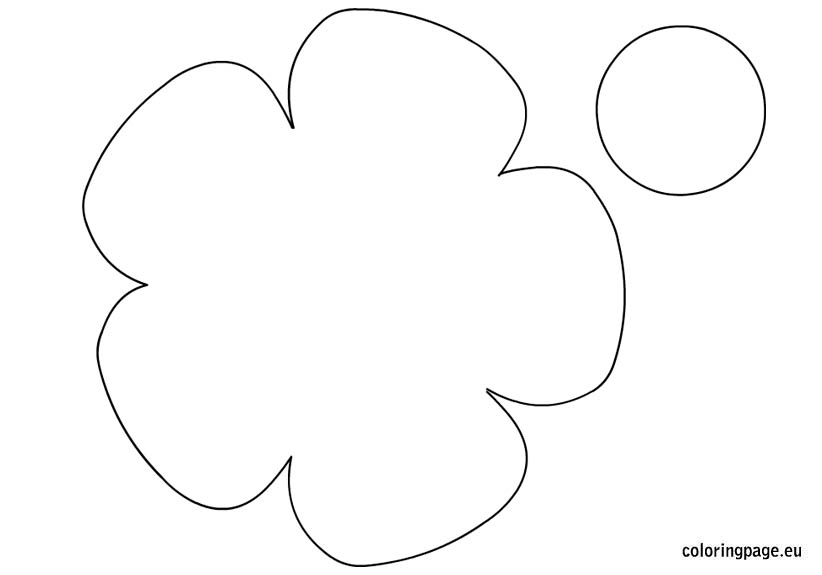 Free template for flowers clip art transparent download Printable flower template free | Coloring Page clip art transparent download
