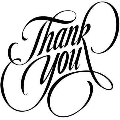 Thank you flowers clipart black and white