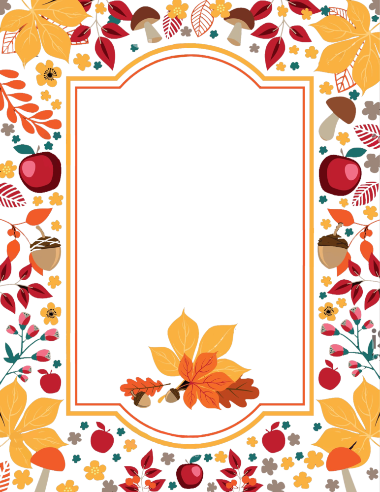 Free thanksgiving border clipart jpg library library Free Thanksgiving Flowers Border PNG jpg library library