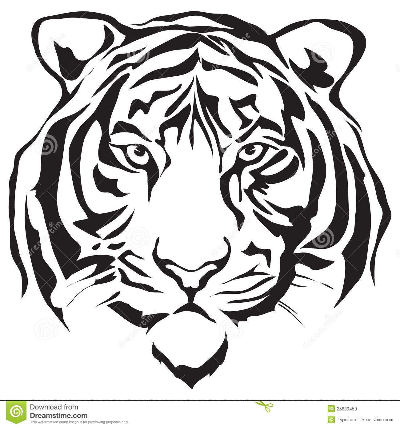 Free tiger clipart black and white image freeuse library 9+ Tiger Clipart Black And White | ClipartLook image freeuse library