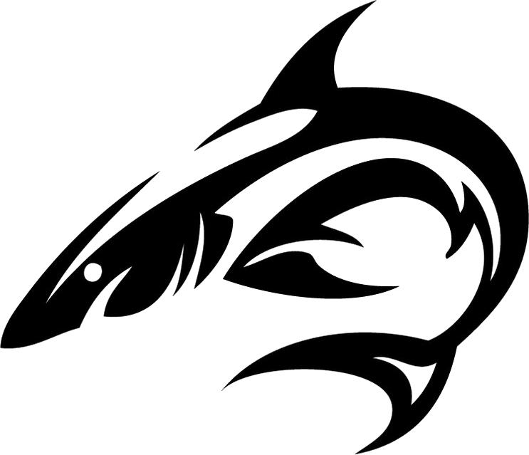 Tribal Shark Tattoo | Isolated Stock Photo by noBACKS.com ... free