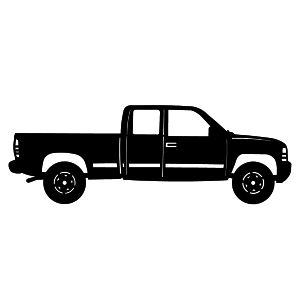 Free top down clipart siloette image of pickup image black and white download Old Truck Cliparts   Free download best Old Truck Cliparts on ... image black and white download