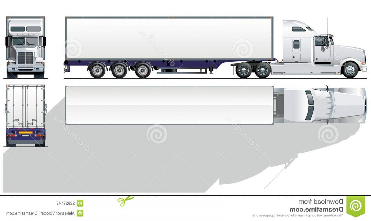 Free top down clipart siloette image of pickup graphic black and white library Royalty Free Stock Images Vector Detailed Top View Semi Trucks Set ... graphic black and white library