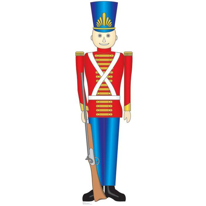 Free toy soldier clipart image library download Christmas Toy Soldier Cardboard Stand-Up | Christmas | Toy soldiers ... image library download