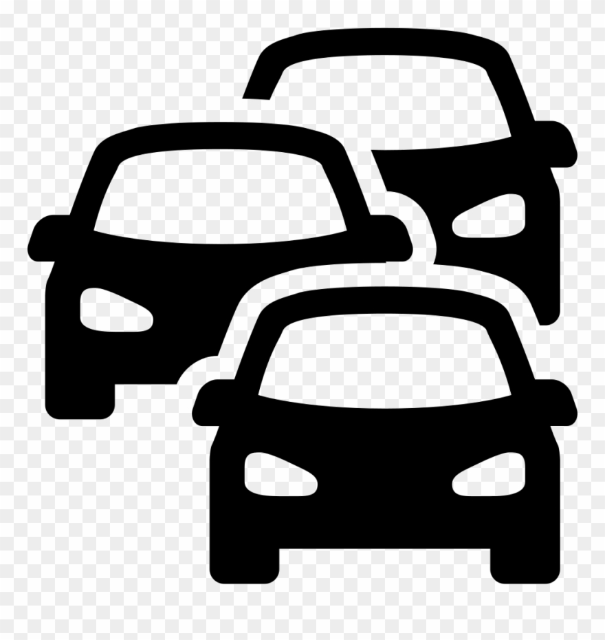 Clipart traffic jam clip black and white download Clipart Free Stock Cars Svg Above - Traffic Jam Icon Png Transparent ... clip black and white download