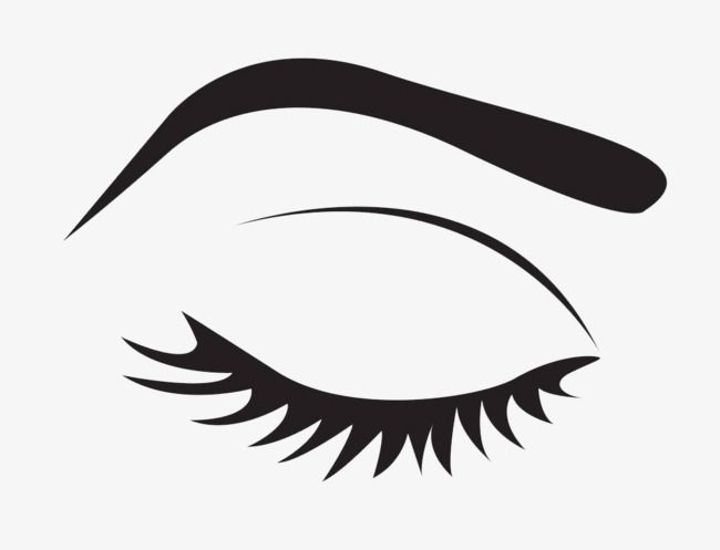 Free transparent closed eyes with lashes clipart png black and white stock Black Simple Eyes, Eyes Clipart, Make Up, Makeups PNG Transparent ... png black and white stock