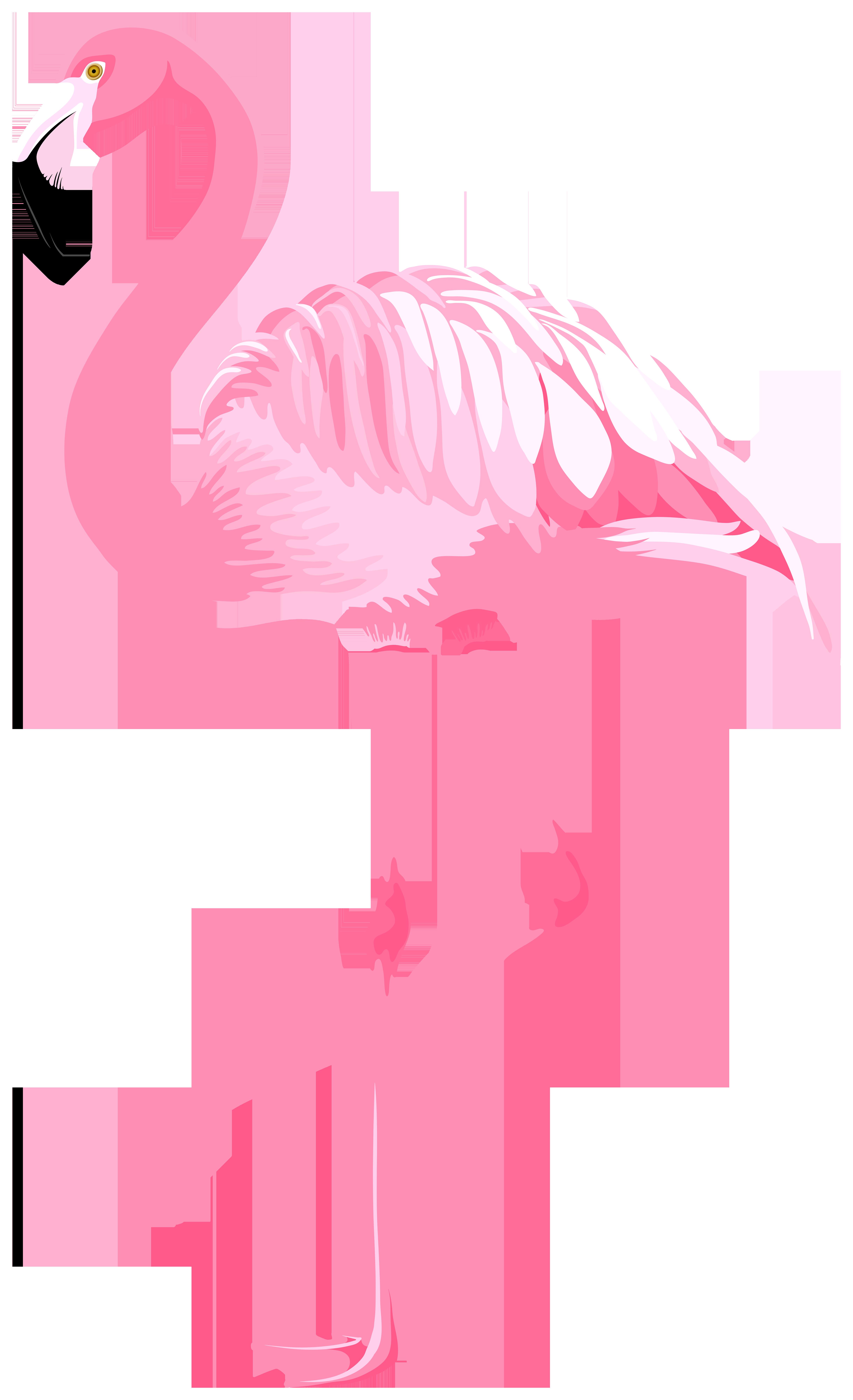 Valentines day flamingo clipart