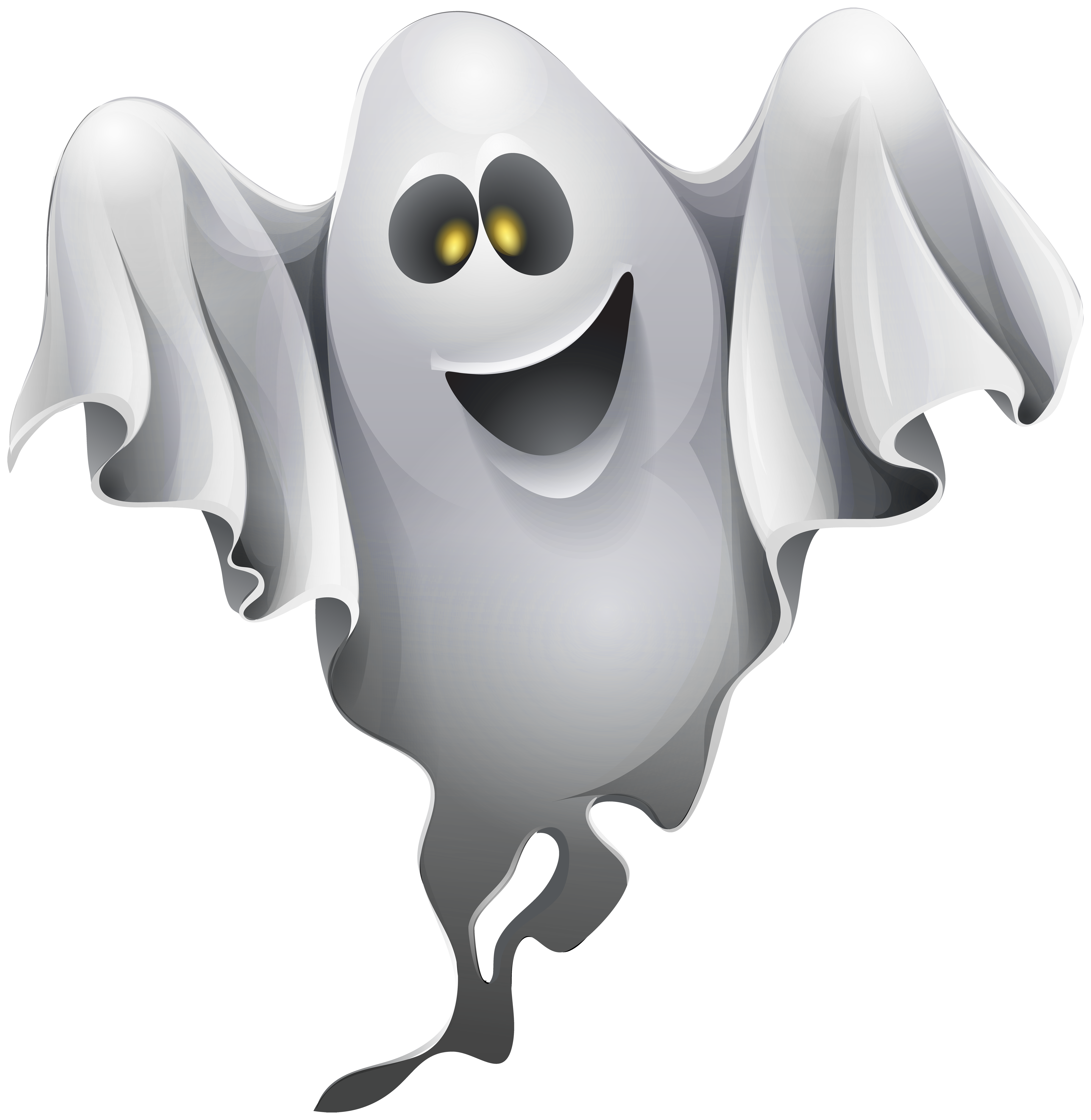 Free transparent png clipart vector royalty free library Halloween Ghost Clipart PNG Image - PurePNG | Free transparent CC0 ... vector royalty free library