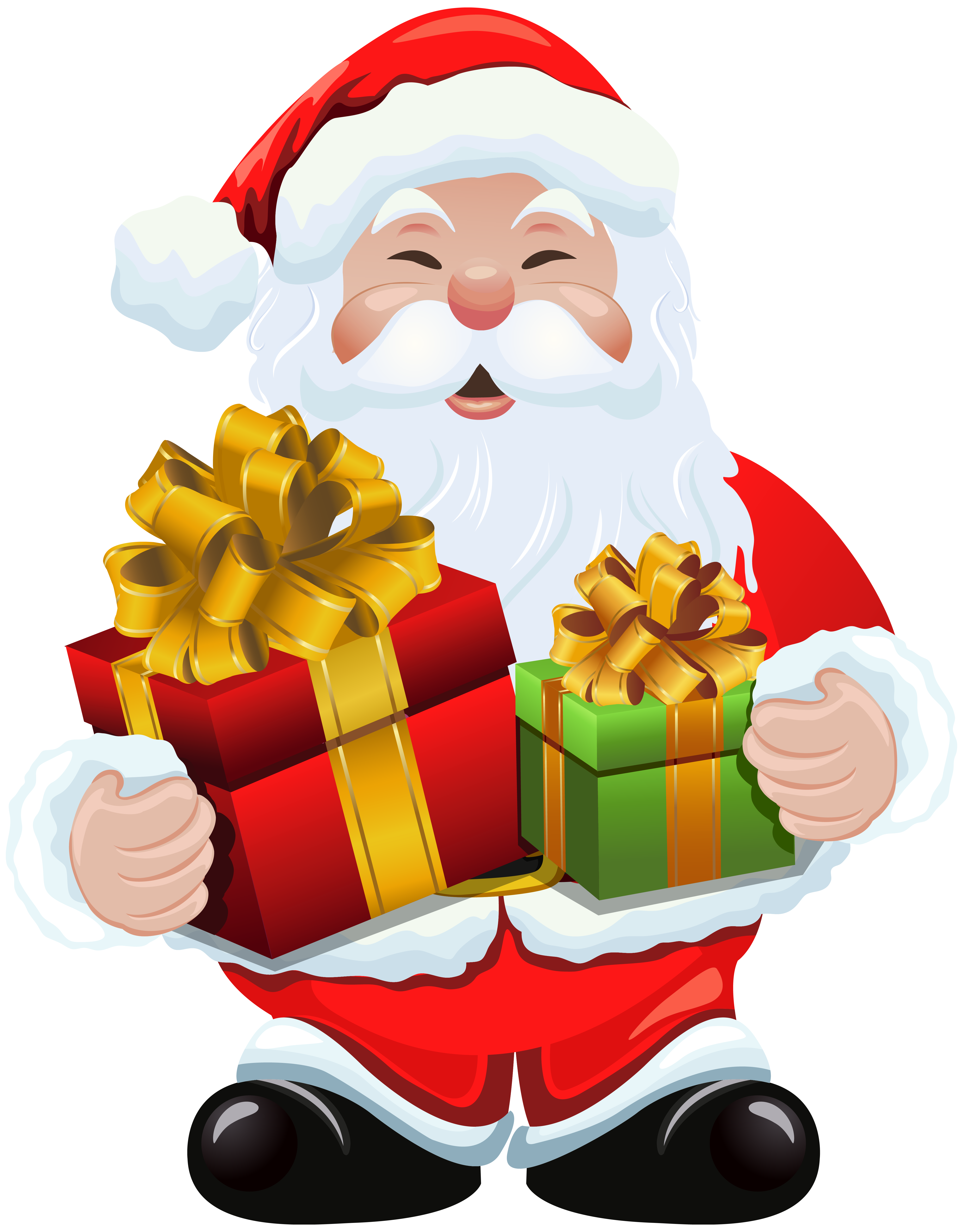 Free transparent santa christmas presents tower clipart jpg freeuse download Santa With Presents Png & Free Santa With Presents.png Transparent ... jpg freeuse download