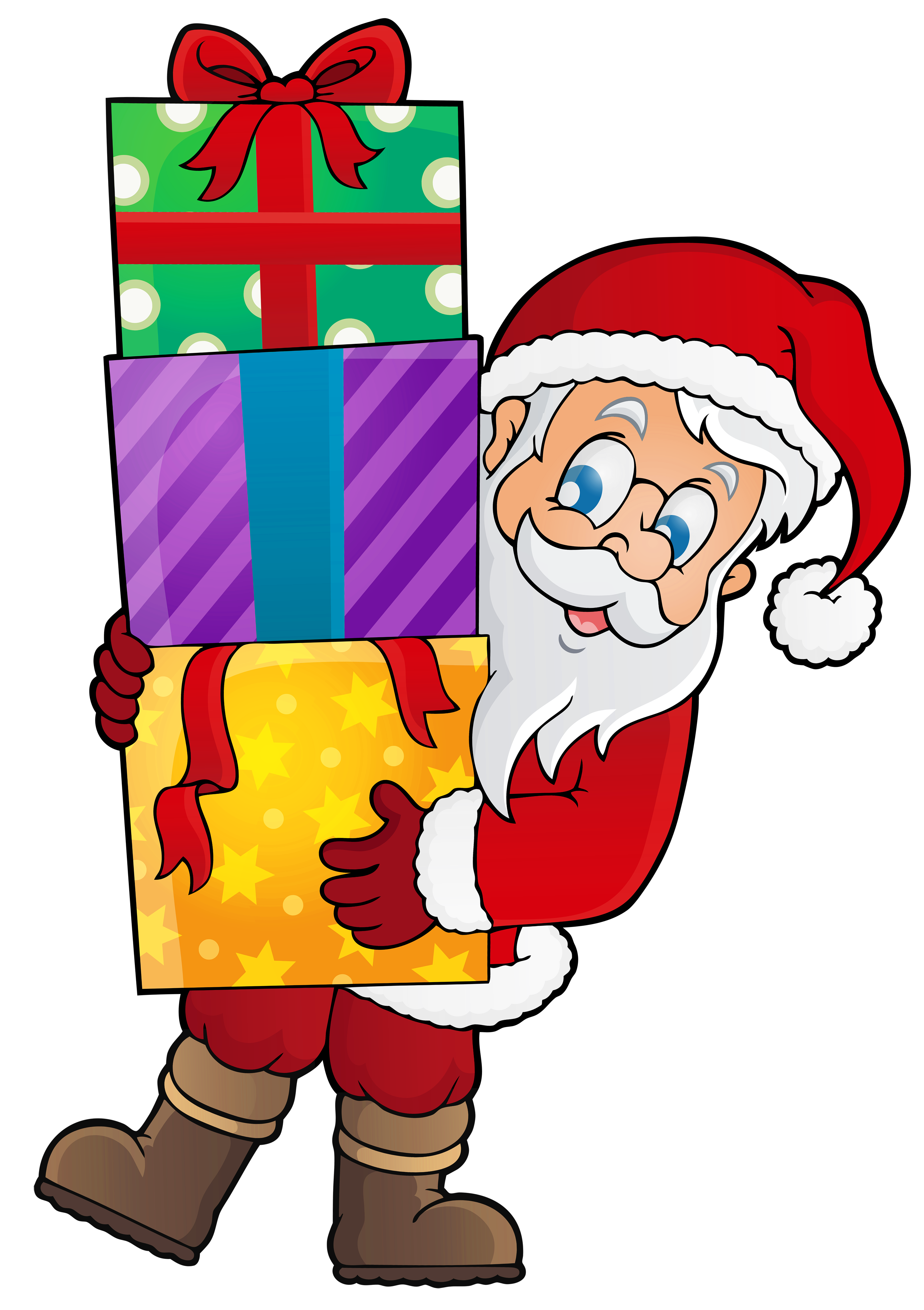 Free transparent santa christmas presents tower clipart graphic free stock Santa With Presents Png & Free Santa With Presents.png Transparent ... graphic free stock