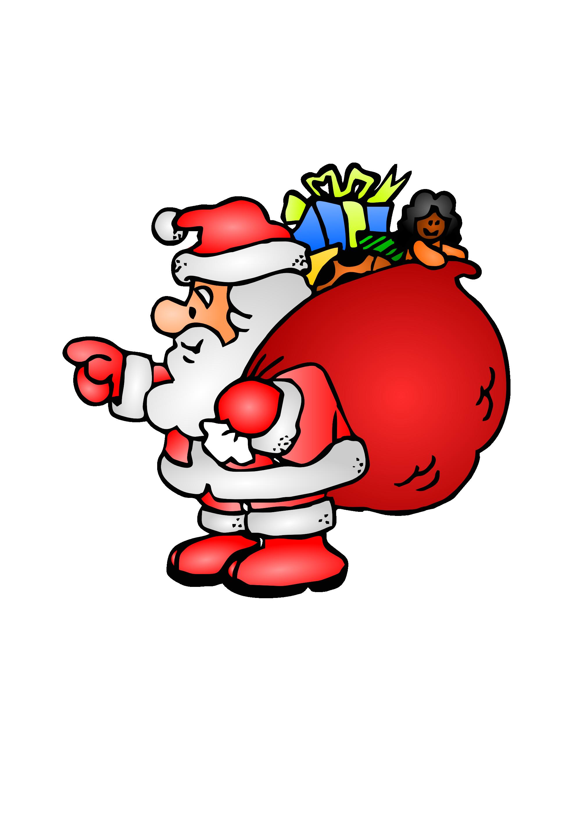Free transparent santa christmas presents tower clipart black and white download Free Santa Bag Cliparts, Download Free Clip Art, Free Clip Art on ... black and white download