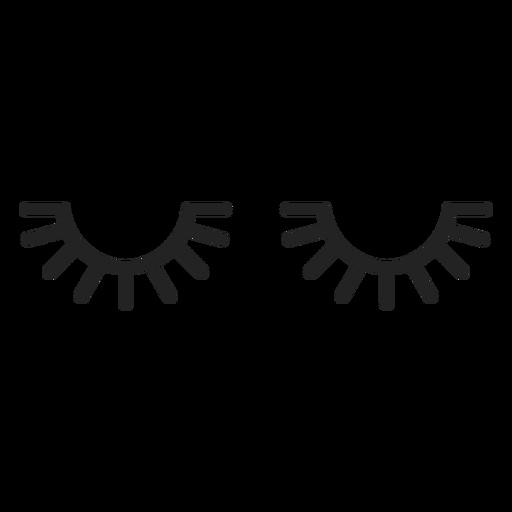 Free transparent sleepy eyes with lashes clipart svg freeuse stock Sleepy emoticon closed eyes - Transparent PNG & SVG vector svg freeuse stock