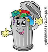 Free trash clipart vector freeuse library Garbage Clip Art - Royalty Free - GoGraph vector freeuse library