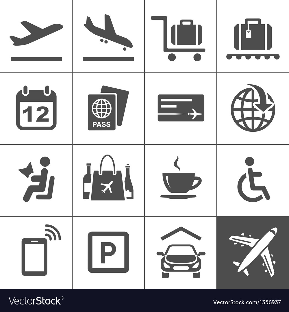 Free travel icons clipart picture transparent download Universal airport and air travel icons picture transparent download