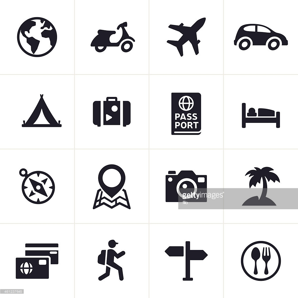 Free travel icons clipart image black and white Icon Travel #216476 - Free Icons Library image black and white