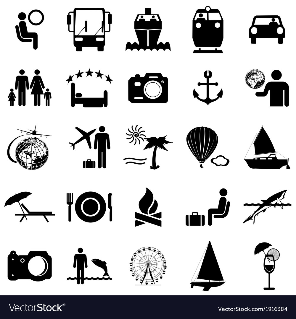 Free travel icons clipart picture freeuse library Collection flat icons Travel symbols picture freeuse library