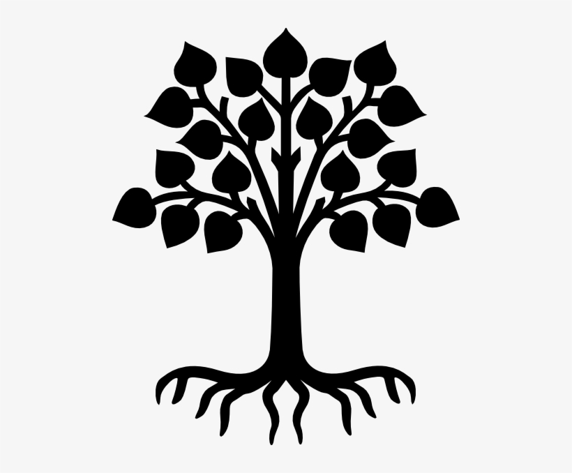 Tree black clipart banner black and white stock Vector Transparent Download Redwood Vector Root - Tree With Roots ... banner black and white stock