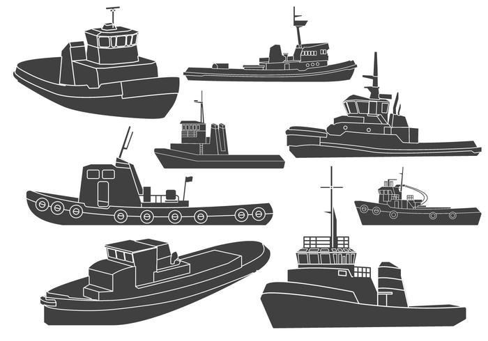 Tugboat pulling ship clipart black and white png royalty free stock Tugboat Clipart Vectors - Download Free Vector Art, Stock Graphics ... png royalty free stock