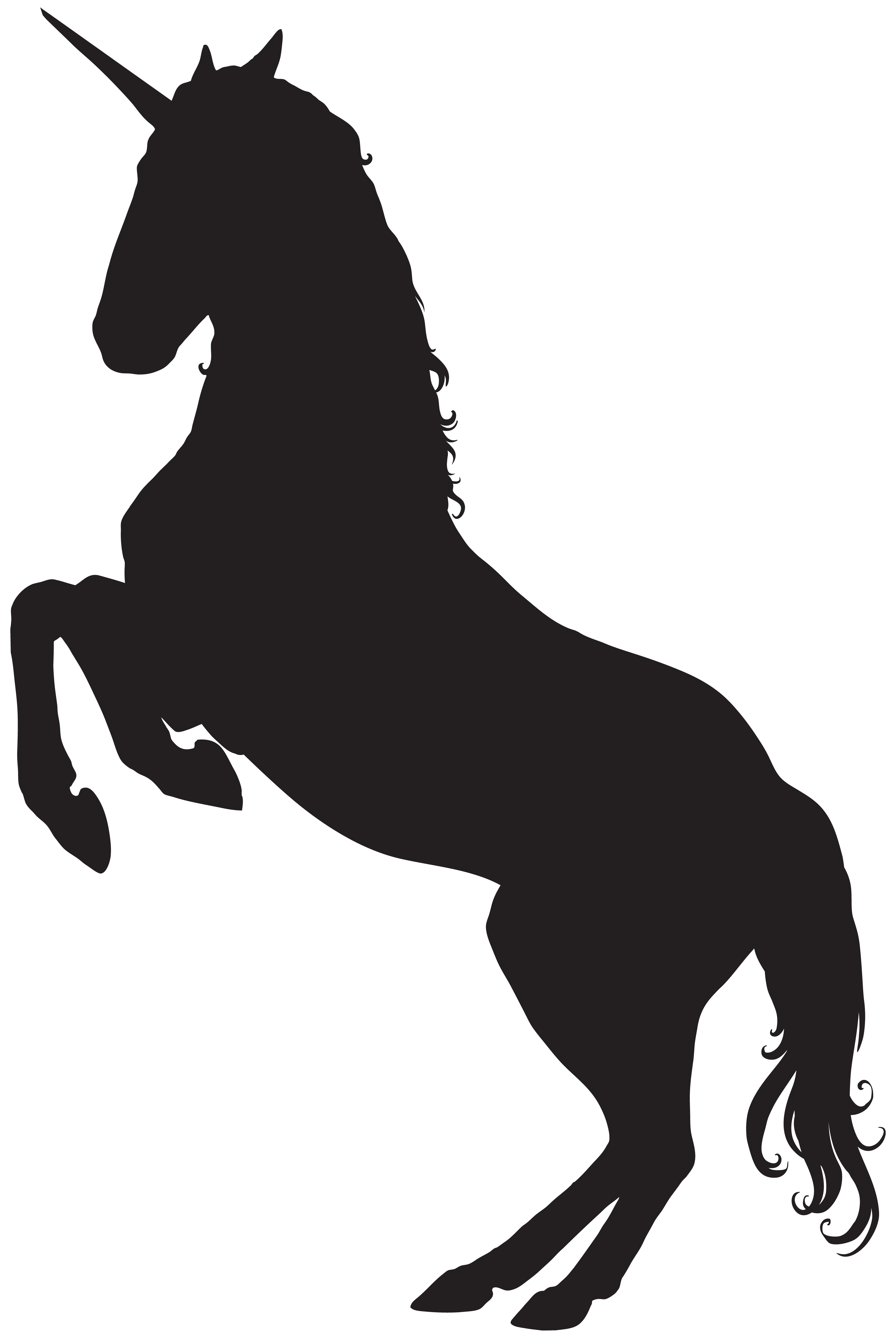 Free unicorn crown clipart svg stock Unicorn Silhouette PNG Clip Art Image | Free Silhouette Cameo Cut ... svg stock