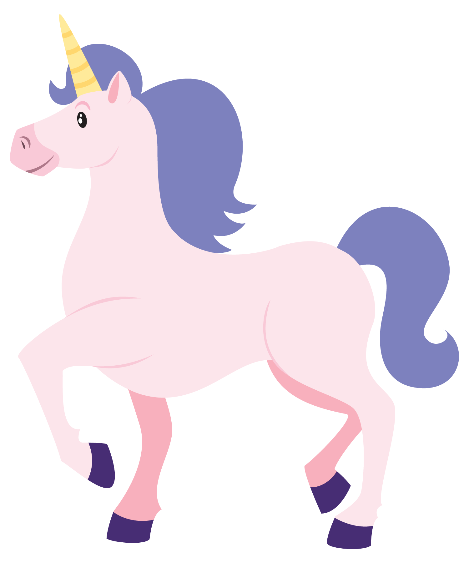 Unicorn crown clipart vector free Clip Art Unicorn This cute cartoon unicorn clip | Unicorns and ... vector free