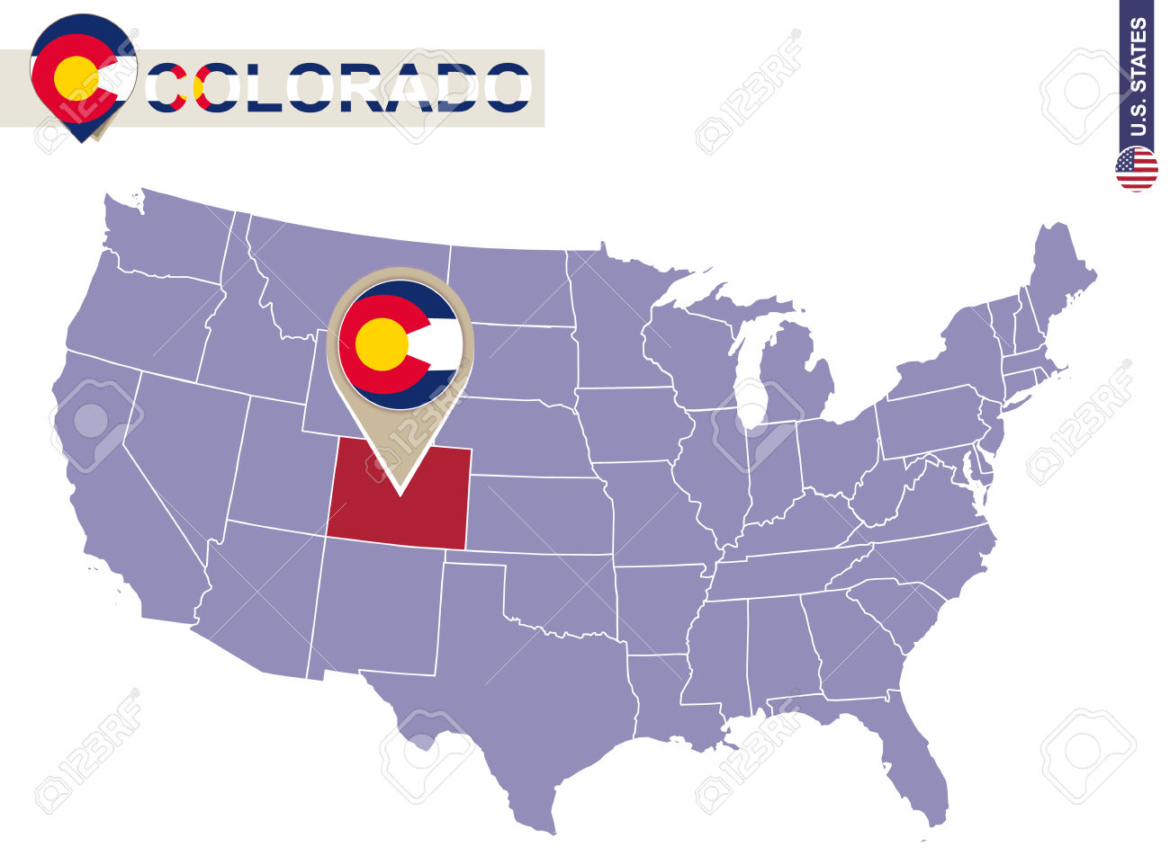 Free us map clipart vector royalty free stock 1,219 Colorado State Map Stock Vector Illustration And Royalty ... vector royalty free stock