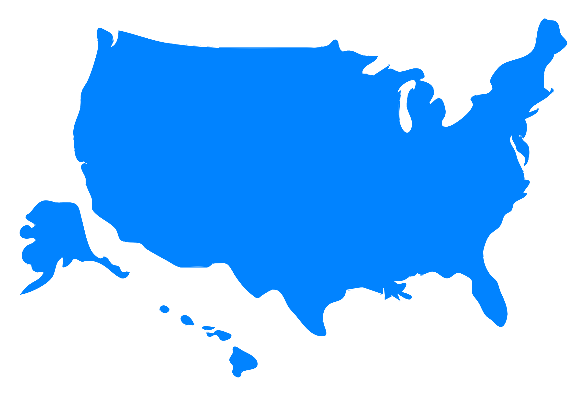 Free us map clipart clipart library download Usa map silhouetter clipart vector free - ClipartFest clipart library download