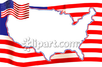 Free us map flag clipart vector royalty free download A Map Of the United States Over the American Flag - Royalty Free ... vector royalty free download