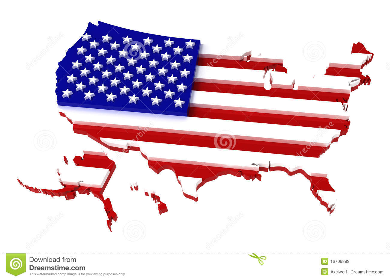 Free us map flag clipart black and white stock USA, Map With Flag, Clipping Path Included, 3d Royalty Free Stock ... black and white stock