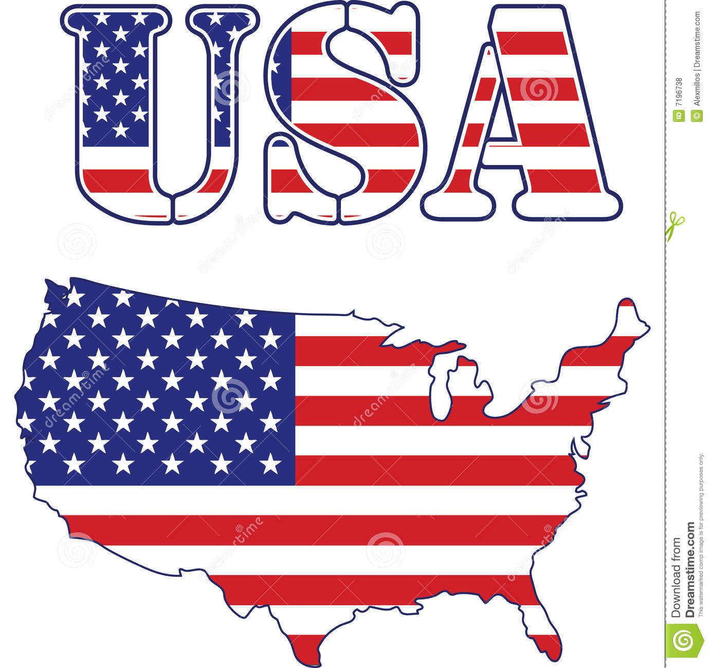 Free us map flag clipart picture USA Map And Text Flag Royalty Free Stock Photos - Image: 7196738 picture