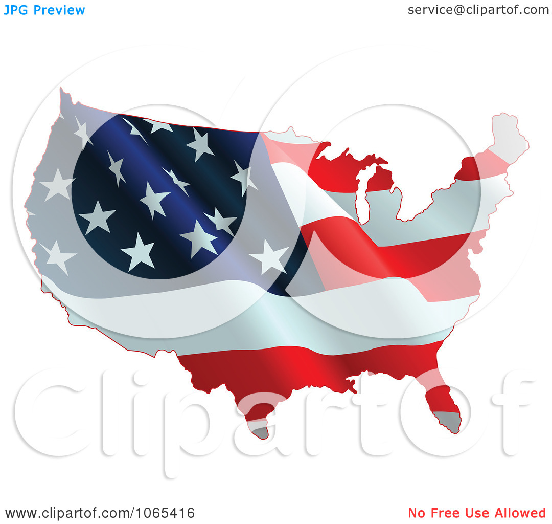 Free us map flag clipart black and white stock Clipart Waving American Flag Map - Royalty Free Vector ... black and white stock