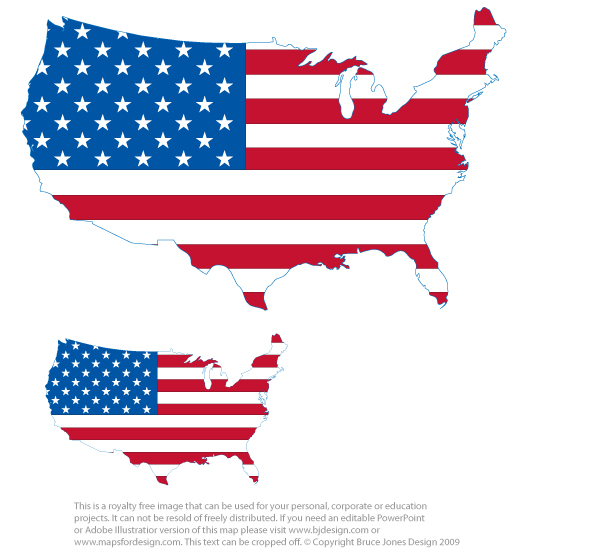 Free us map flag clipart clip free US and Canada Maps, Printable, Blank, Royalty Free, Download to ... clip free