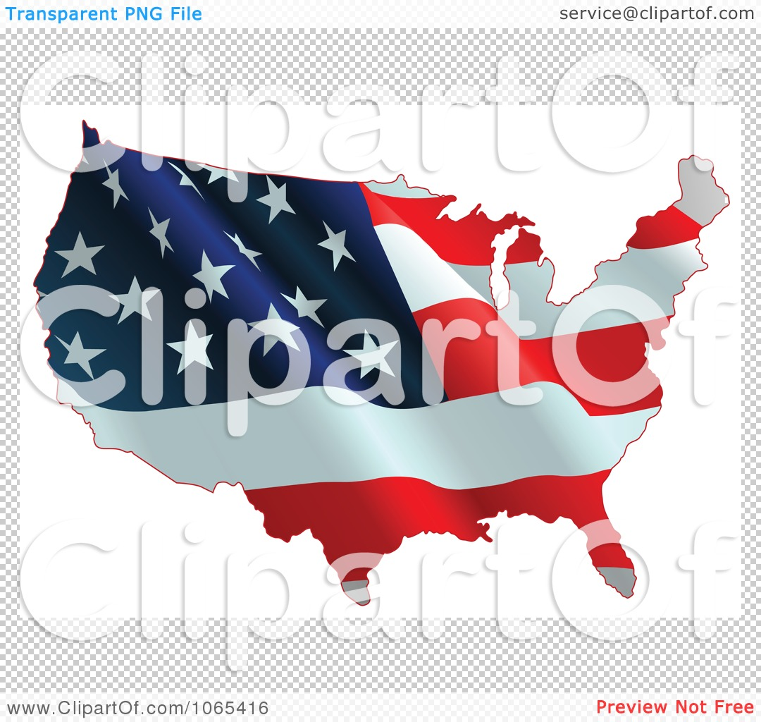 Free us map flag clipart vector stock Clipart Waving American Flag Map - Royalty Free Vector ... vector stock