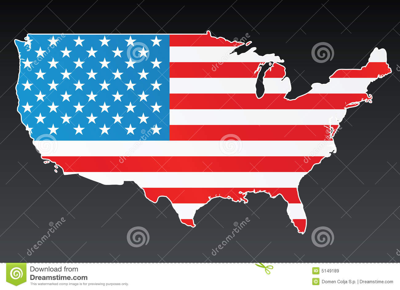 Free us map flag clipart png transparent library USA Map With US Flag Royalty Free Stock Images - Image: 5149189 png transparent library