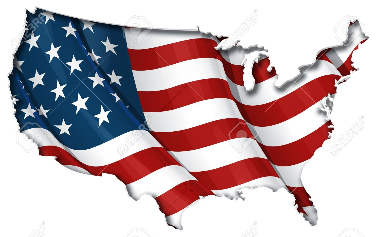Free us map flag clipart png royalty free download 26,608 Us Map Stock Vector Illustration And Royalty Free Us Map ... png royalty free download