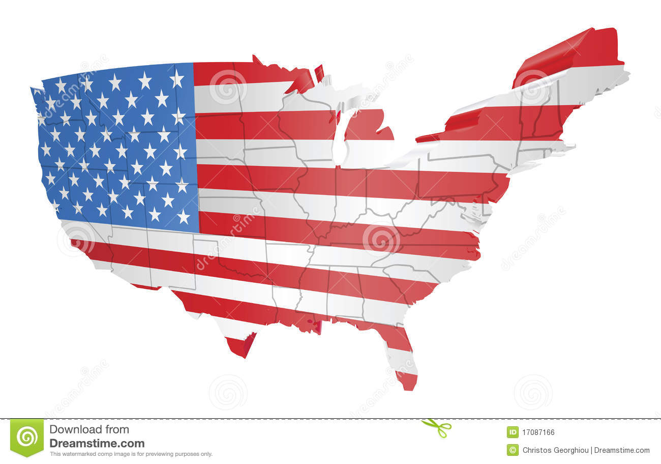 Free us map flag clipart picture black and white USA Map And Flag Royalty Free Stock Image - Image: 17087166 picture black and white