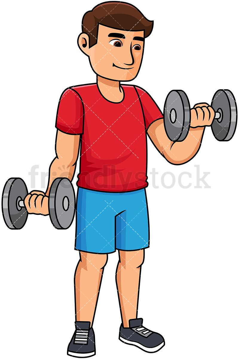 Free use lifting clipart svg Man Lifting Dumbbells | Working Out Clipart | Free vector ... svg