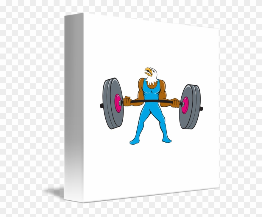 Free use lifting clipart image royalty free library Clip Art Freeuse Stock Bald Weightlifter Lifting Barbell - Png ... image royalty free library