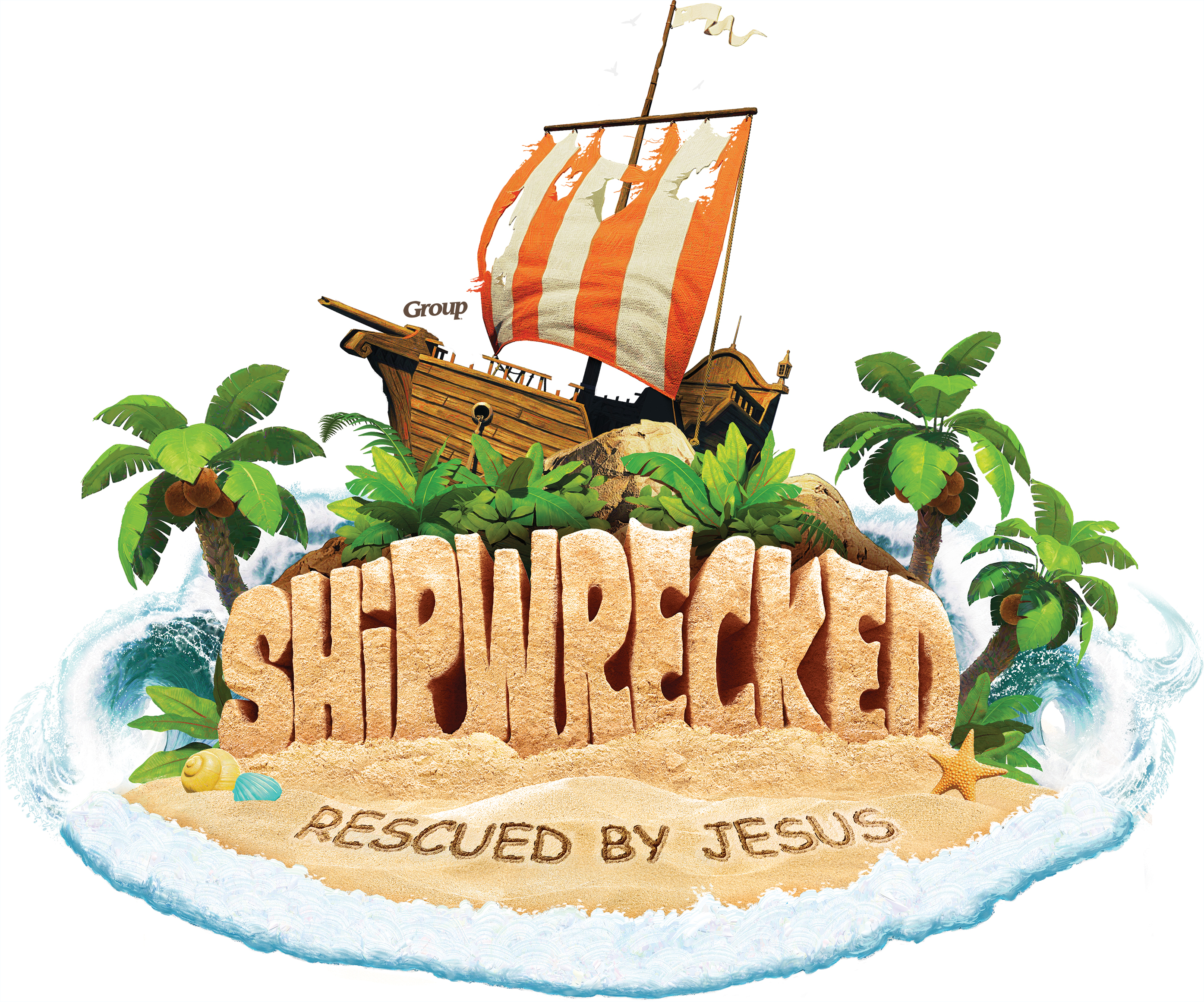 Free vbs clipart jpg black and white stock Shipwrecked VBS | Free Resources & Downloads jpg black and white stock