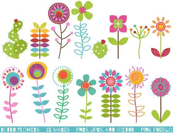 Free vector clip art flowers graphic transparent library Retro Blumen Clipart ClipArt, Vintage Blumen Clip Art Clipart ... graphic transparent library