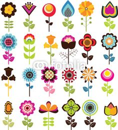 Free vector clip art flowers clip freeuse stock Retro Blumen Clipart ClipArt, Vintage Blumen Clip Art Clipart ... clip freeuse stock