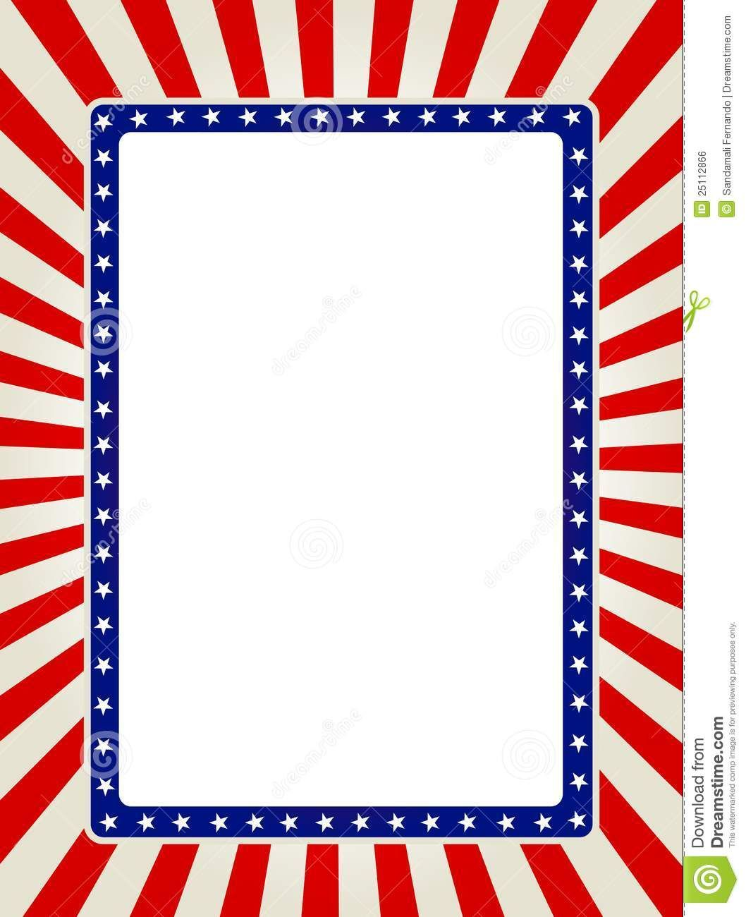 Free vector clipart fourth of july border png free download Free Patriotic Page Borders | Patriotic border | Images | Borders ... png free download