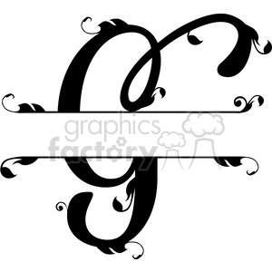 Free vector design clipart freeuse download split regal g monogram vector design clipart. Royalty-free clipart # 392833 freeuse download