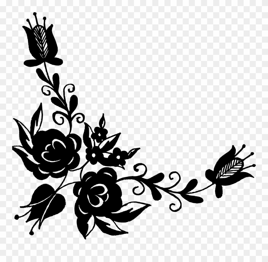 Free vector images clipart clip art transparent stock Collection Of Free Vector Clipart Floral - Corner Floral Vector Png ... clip art transparent stock