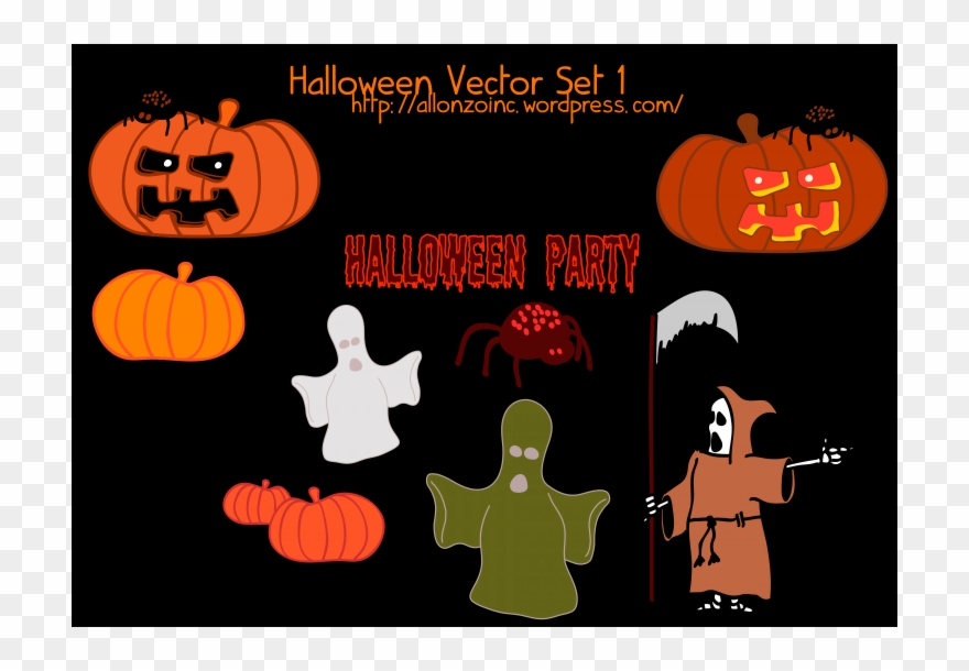 Free vector halloween clipart svg royalty free library Free Vector Halloween Vector Set 1 Free Vector Halloween Clipart ... svg royalty free library