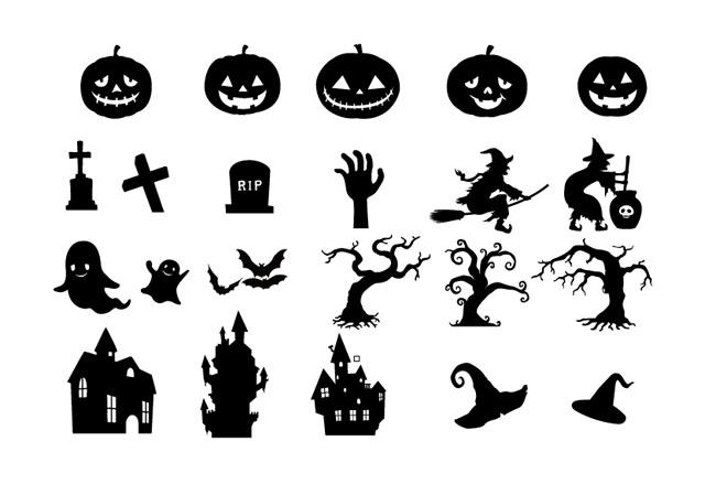 Free vector halloween clipart vector library stock Halloween elements - Free Vector Site   Download Free Vector Art ... vector library stock