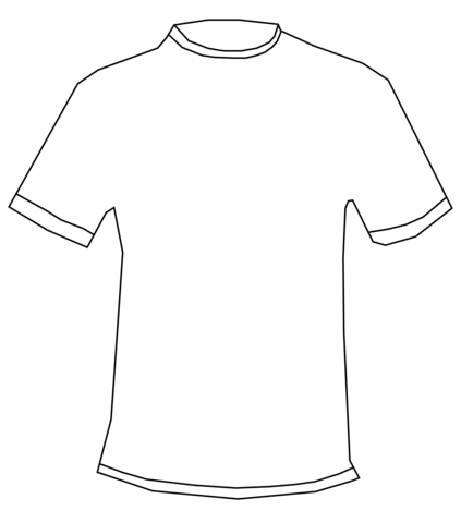 Free vector manly clipart t shirt art vector black and white library T-shirt coloring page | Free Printable Coloring Pages vector black and white library